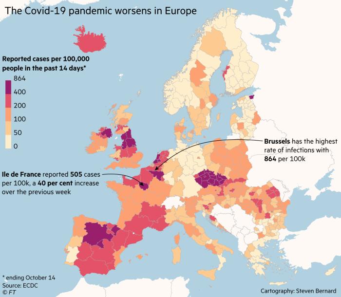 The Coronavirus pandemic worsens in Europe.