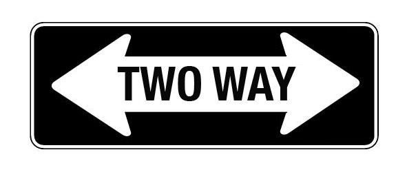 Two Way trading sign.